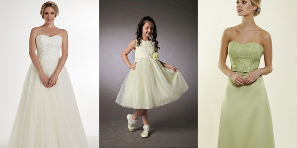 wedding dresses and bridsmaids dresses fron CrownJoolz
